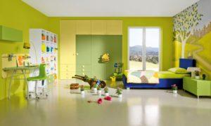 интерьер детской в зеленых оттенках