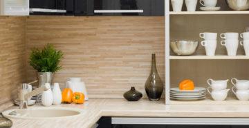 стеновые панели МДФ на кухне